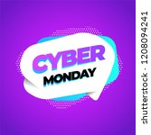 cyber monday discount sale... | Shutterstock .eps vector #1208094241