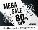 mega sale banner template... | Shutterstock .eps vector #1208095237