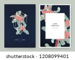 floral wedding invitation card... | Shutterstock .eps vector #1208099401