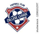 soccer  football emblems.... | Shutterstock .eps vector #1208101597