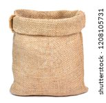 Empty Burlap Sack Or Sackcloth...