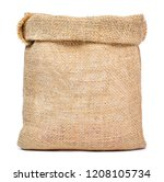 empty burlap sack or sackcloth... | Shutterstock . vector #1208105734
