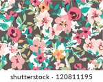 seamless tropical vintage... | Shutterstock .eps vector #120811195