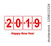 2019 happy new year or... | Shutterstock .eps vector #1208112124