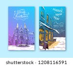 trendy cover template. winter... | Shutterstock .eps vector #1208116591