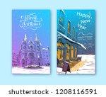 trendy cover template. winter... | Shutterstock .eps vector #1208116591