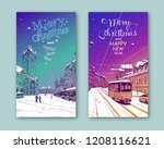Trendy Cover Template. Winter...