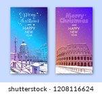 trendy cover template. winter... | Shutterstock .eps vector #1208116624