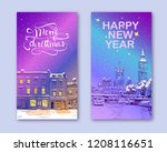trendy cover template. winter... | Shutterstock .eps vector #1208116651