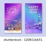 trendy cover template. winter... | Shutterstock .eps vector #1208116651