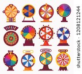 isolated on white vector wheel... | Shutterstock .eps vector #1208121244