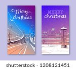 trendy cover template. winter... | Shutterstock .eps vector #1208121451