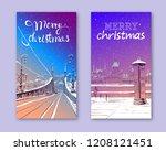 trendy cover template. winter... | Shutterstock .eps vector #1208121451