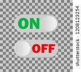 on   off button  vector image ...