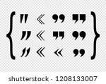 vector black quote marks set ... | Shutterstock .eps vector #1208133007