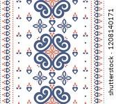blue and orange ornamental... | Shutterstock .eps vector #1208140171