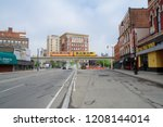 detroit  michigan  united... | Shutterstock . vector #1208144014