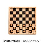 Wooden Checkerboard With...
