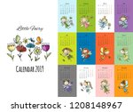 little fairies  calendar 2019... | Shutterstock .eps vector #1208148967
