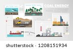 coal energy  how to coal formed ... | Shutterstock .eps vector #1208151934