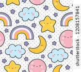 Moons Clouds Rainbows And Stars ...