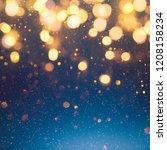 christmas light background. ...   Shutterstock . vector #1208158234