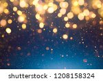 christmas light background. ... | Shutterstock . vector #1208158324