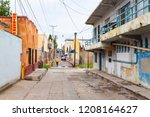 back street in nogales  sonora... | Shutterstock . vector #1208164627