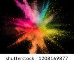 colored powder explosion... | Shutterstock . vector #1208169877