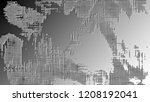 black and white relief convex... | Shutterstock . vector #1208192041