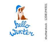 vector hello winter... | Shutterstock .eps vector #1208194501