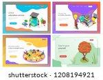 isometric flat vector landing... | Shutterstock .eps vector #1208194921