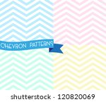 Set of zigzag seamless pattern. Colorful chevron ornament. Vector illustration | Shutterstock vector #120820069