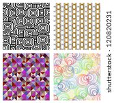 four seamless   Shutterstock .eps vector #120820231