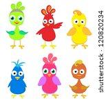 set of cartoon birds | Shutterstock .eps vector #120820234