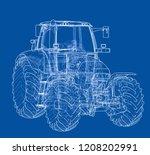 farm tractor concept. vector...   Shutterstock .eps vector #1208202991