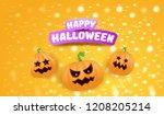 halloween horizontal web banner ... | Shutterstock .eps vector #1208205214