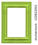 Green Picture Frame Isolated O...