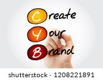 Small photo of CYB - Create Your Brand, acronym business concept background