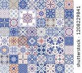 big vector set of tiles in... | Shutterstock .eps vector #1208229841