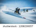 Skier enjoying a deep powder...