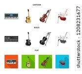 vector illustration of music... | Shutterstock .eps vector #1208231677