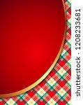 template of elegant christmas... | Shutterstock .eps vector #1208233681