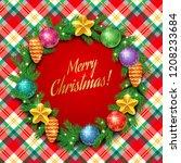 template of elegant christmas... | Shutterstock .eps vector #1208233684