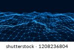 network connection structure.... | Shutterstock . vector #1208236804