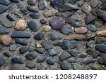 close up view of old cobbled... | Shutterstock . vector #1208248897