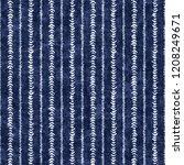 dashed ethnic stripes indigo... | Shutterstock . vector #1208249671