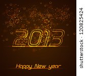 happy new year greeting card.... | Shutterstock .eps vector #120825424