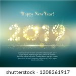 vector 2019 happy new year... | Shutterstock .eps vector #1208261917