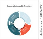 business info graphic templates | Shutterstock . vector #1208268271